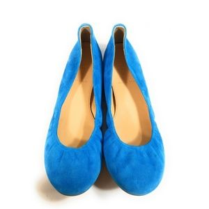 J.Crew Italy Women  Suede Blue Loafers Sz 7.5